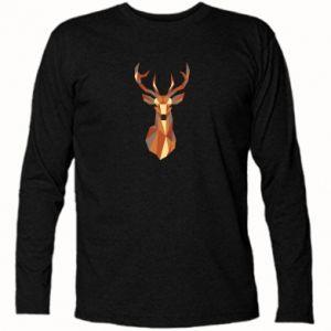 Koszulka z długim rękawem Deer geometry in color