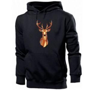Męska bluza z kapturem Deer geometry in color