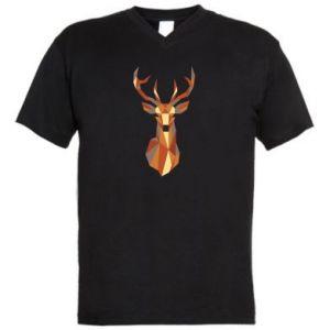 Męska koszulka V-neck Deer geometry in color