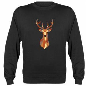 Bluza (raglan) Deer geometry in color