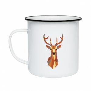Kubek emaliowane Deer geometry in color