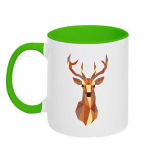 Kubek dwukolorowy Deer geometry in color