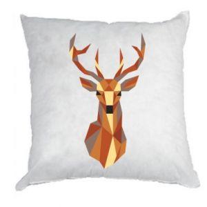 Poduszka Deer geometry in color