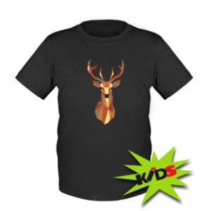 Dziecięcy T-shirt Deer geometry in color