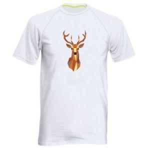 Męska koszulka sportowa Deer geometry in color