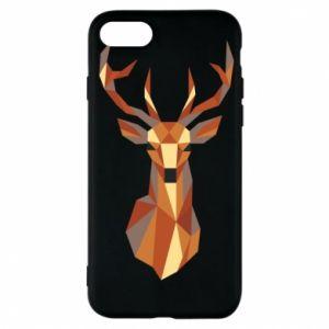 Etui na iPhone 7 Deer geometry in color
