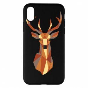 Etui na iPhone X/Xs Deer geometry in color
