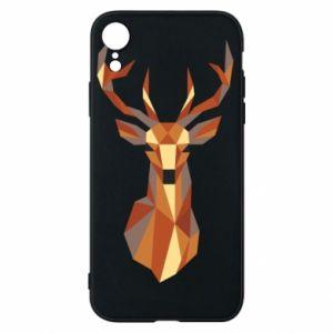 Etui na iPhone XR Deer geometry in color