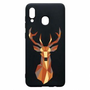 Etui na Samsung A20 Deer geometry in color