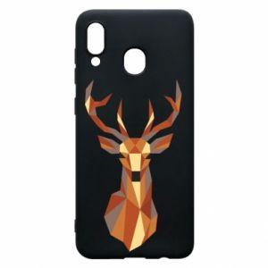Etui na Samsung A30 Deer geometry in color