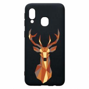 Etui na Samsung A40 Deer geometry in color