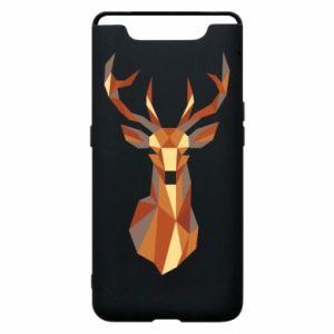 Etui na Samsung A80 Deer geometry in color