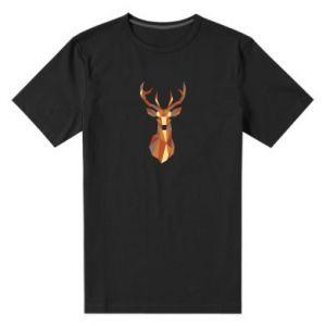 Męska premium koszulka Deer geometry in color