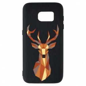 Etui na Samsung S7 Deer geometry in color
