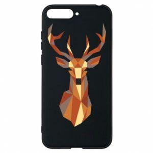 Etui na Huawei Y6 2018 Deer geometry in color