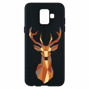 Etui na Samsung A6 2018 Deer geometry in color