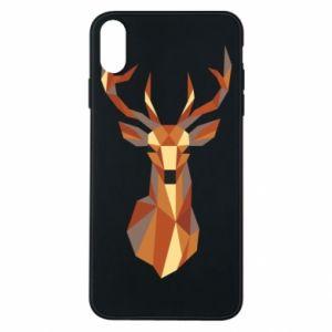Etui na iPhone Xs Max Deer geometry in color
