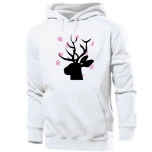 Męska bluza z kapturem Deer in hearts