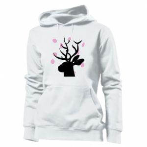 Women's hoodies Deer in hearts - PrintSalon