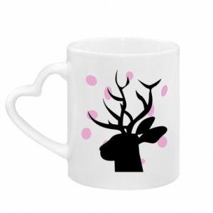 Kubek z uchwytem w kształcie serca Deer in hearts