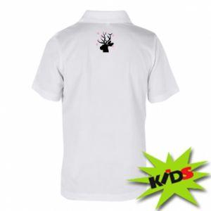 Children's Polo shirts Deer in hearts - PrintSalon