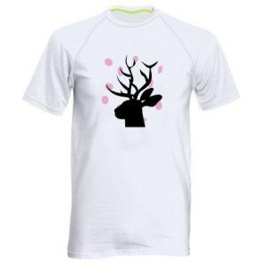 Men's sports t-shirt Deer in hearts - PrintSalon