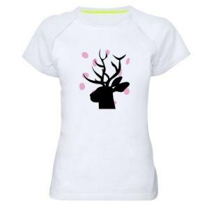 Women's sports t-shirt Deer in hearts - PrintSalon