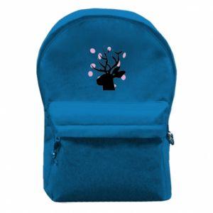 Backpack with front pocket Deer in hearts - PrintSalon