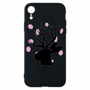 Etui na iPhone XR Deer in hearts