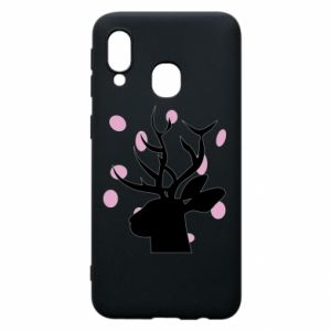 Etui na Samsung A40 Deer in hearts