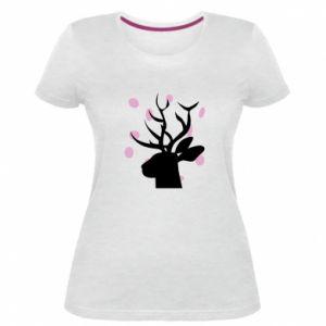 Women's premium t-shirt Deer in hearts - PrintSalon