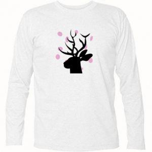 Long Sleeve T-shirt Deer in hearts - PrintSalon