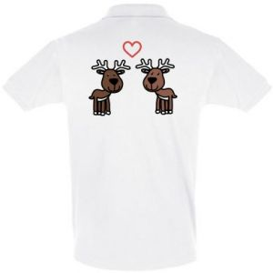 Men's Polo shirt Deer in love