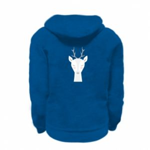 Kid's zipped hoodie % print% Deer
