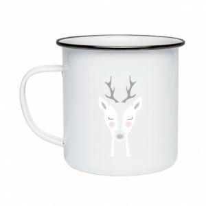 Enameled mug Deer