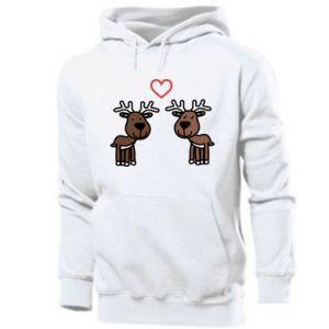 Men's hoodie Deer in love