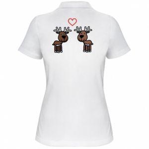 Damska koszulka polo Jeleń w miłości