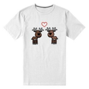 Męska premium koszulka Jeleń w miłości