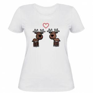 Women's t-shirt Deer in love