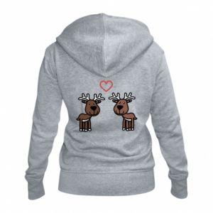 Damska bluza na zamek Jeleń w miłości