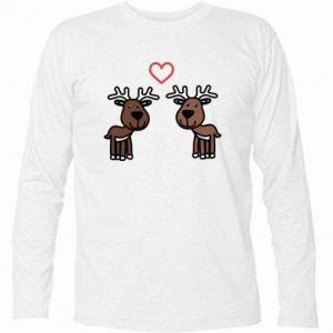 Koszulka z długim rękawem Jeleń w miłości