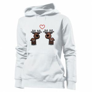 Women's hoodies Deer in love