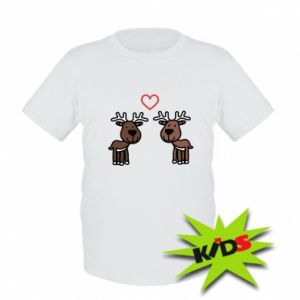Kids T-shirt Deer in love