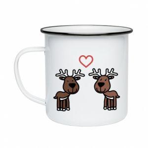 Enameled mug Deer in love
