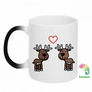 Chameleon mugs Deer in love