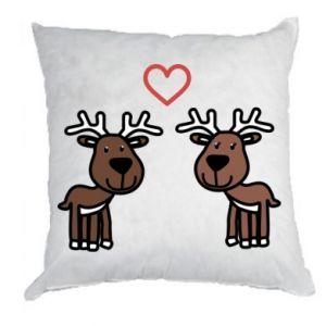 Poduszka Jeleń w miłości