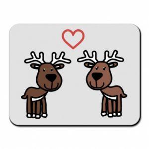 Mouse pad Deer in love