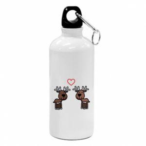 Water bottle Deer in love