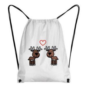 Backpack-bag Deer in love