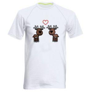 Men's sports t-shirt Deer in love